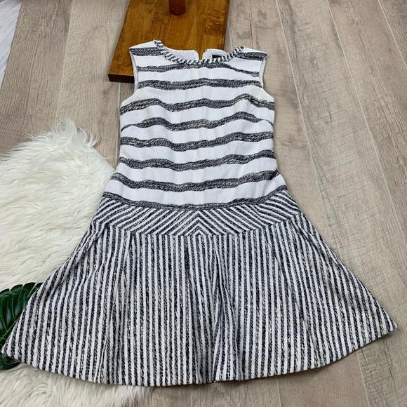 J. Crew Dresses & Skirts - J.Crew Striped Sleeveless Zip Fit & Flare Dress 4